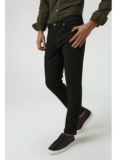 D'S Damat Düz Denim Pantolon Siyah